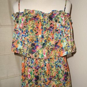NWT PINS AND NEEDLES UO ~ WATERCOLOR MAXI DRESS ~L